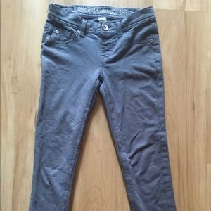 Justice Girl's Simply Low Jeggings 10R Gray Jeans